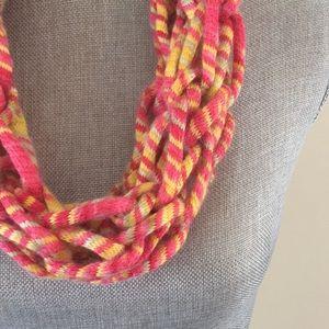 Tutti Frutti handmade arm knit infinity scarf